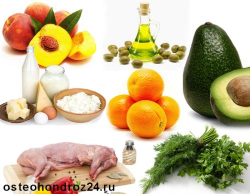 Продукты которые надо есть при остеохондрозе
